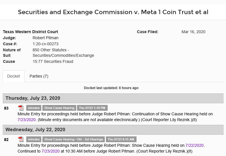 Dave Schmidt (Meta 1 Coin Scam) Hearing Concluded - Did Dave Show? Did Dave Flip Off The Judge Again? Scree619