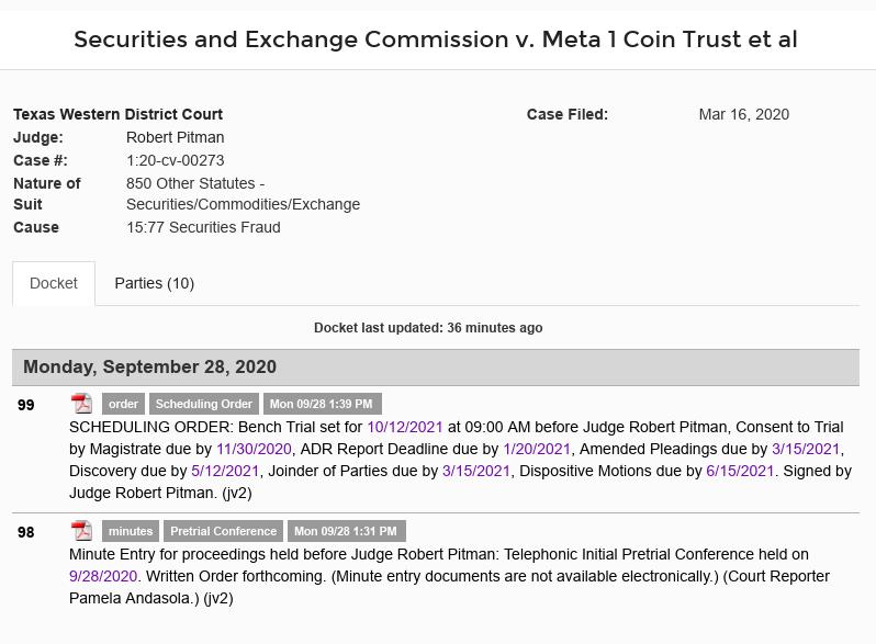 schmidt - Meta 1 Coin Scam (Dave Schmidt) Bench Trial set for 10/12/2021 Scree635