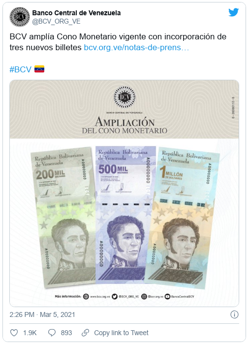 Hyperinflation Pushes Venezuela to Print 1,000,000-Bolivar Bills Scree678