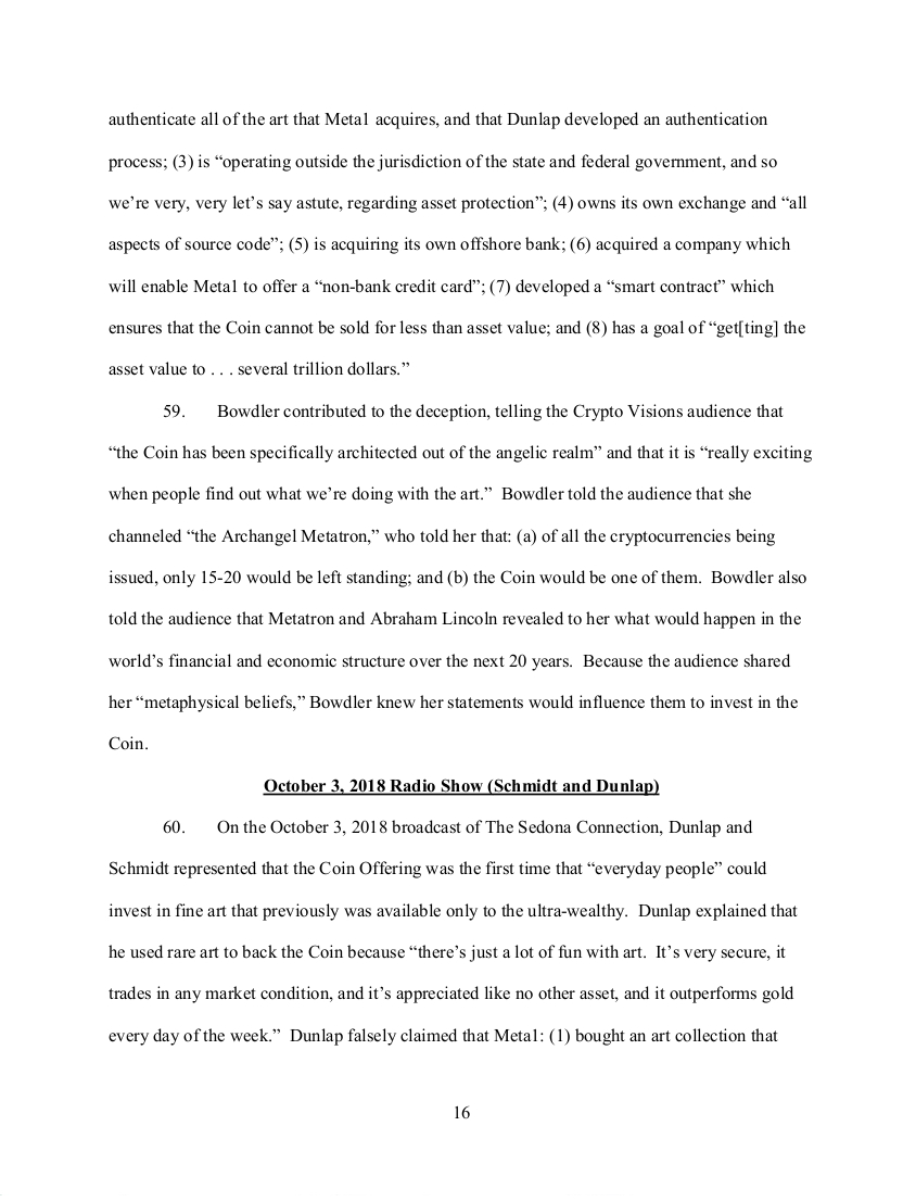 SEC's 28 Page Court Filing For Dave Schmidt's Meta 1 Coin Fraud - RV Guru In Deep Trouble! Sec1610
