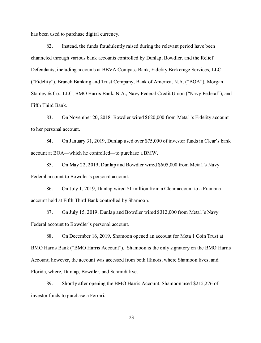 SEC's 28 Page Court Filing For Dave Schmidt's Meta 1 Coin Fraud - RV Guru In Deep Trouble! Sec2310