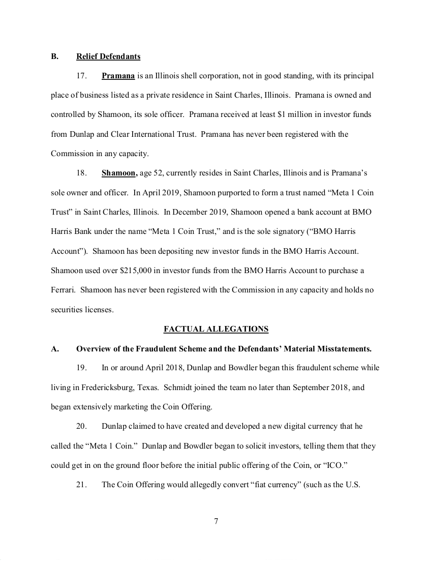SEC's 28 Page Court Filing For Dave Schmidt's Meta 1 Coin Fraud - RV Guru In Deep Trouble! Sec710