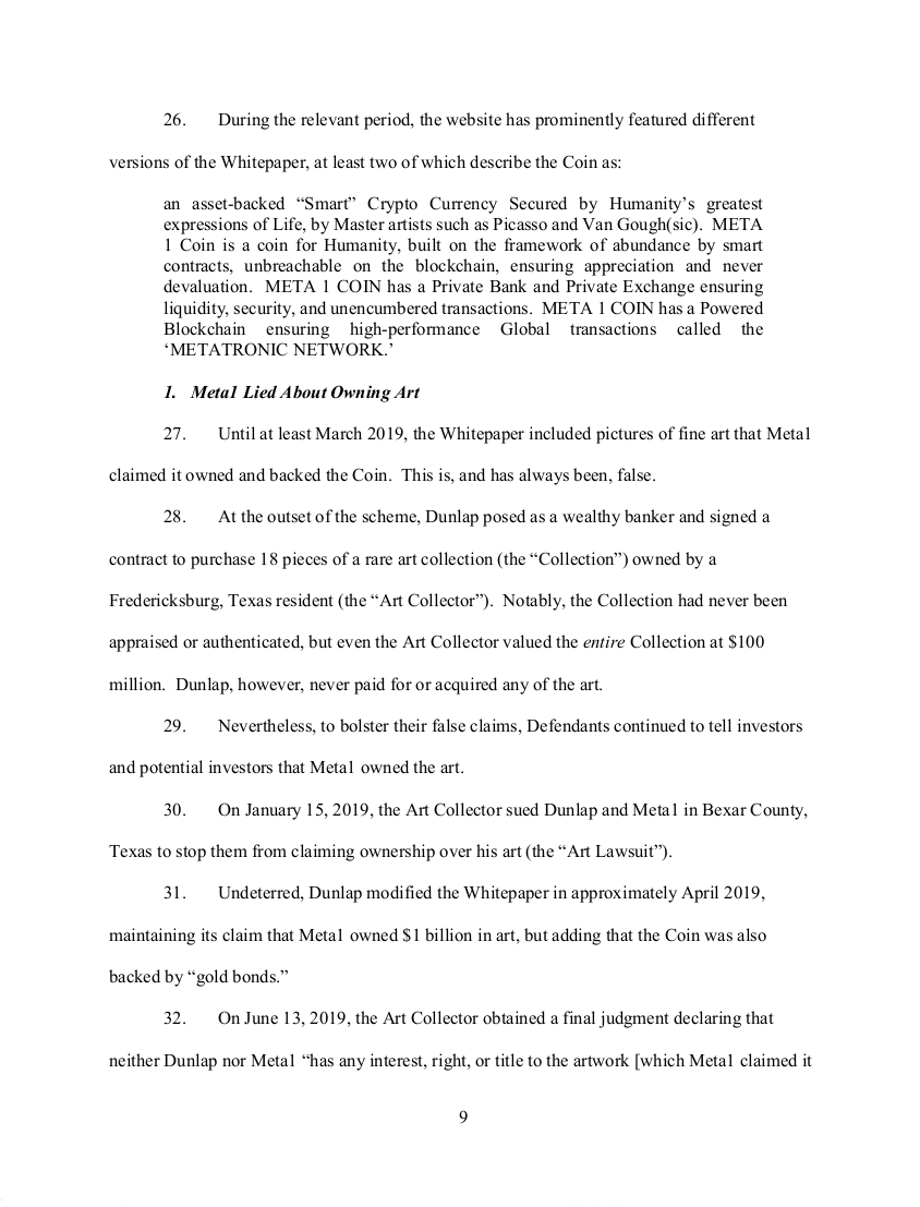 SEC's 28 Page Court Filing For Dave Schmidt's Meta 1 Coin Fraud - RV Guru In Deep Trouble! Sec910