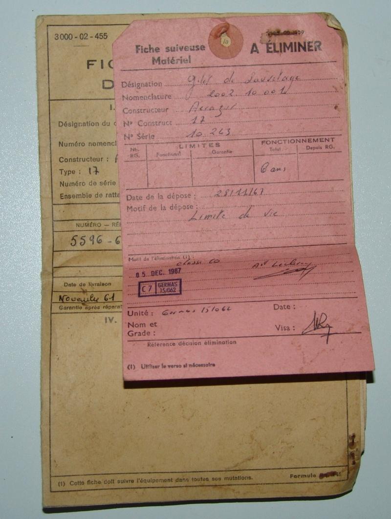 Aviation: Gilet de sauvetage Aérazur 17 - 1er type Dsc00059