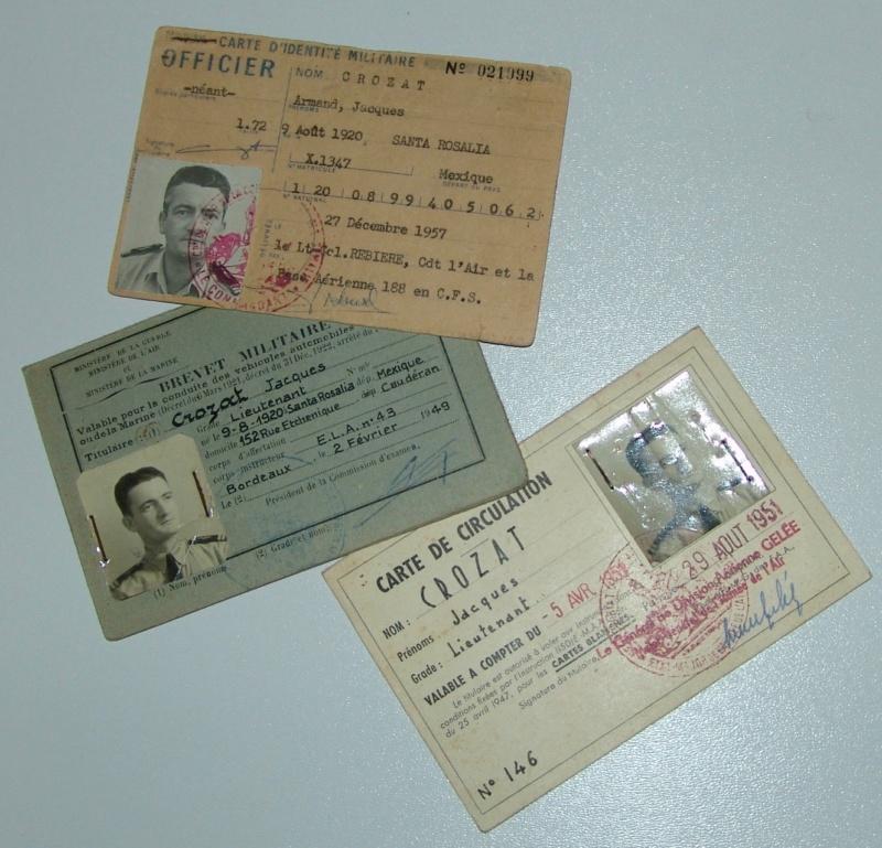 Papier d'un officier ancien FAFL (aviation-armée de l'air) Dsc09749