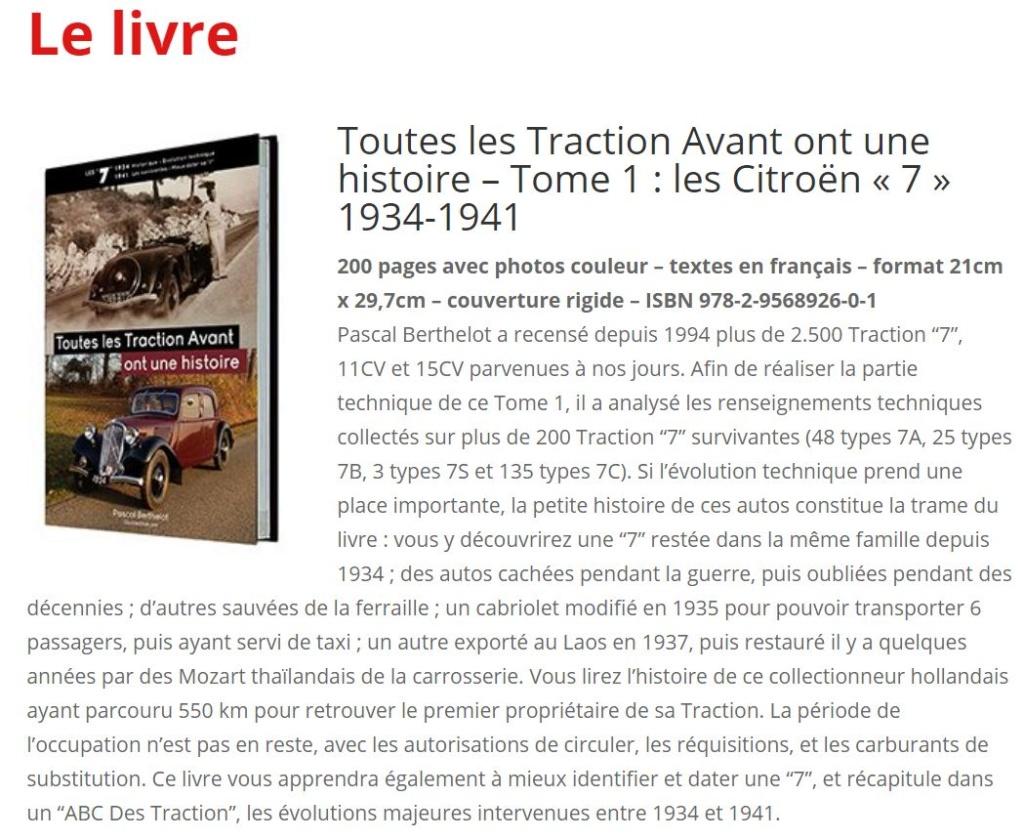 le site et le livre de Pascal Berthelot sur les Traction Avant 000077