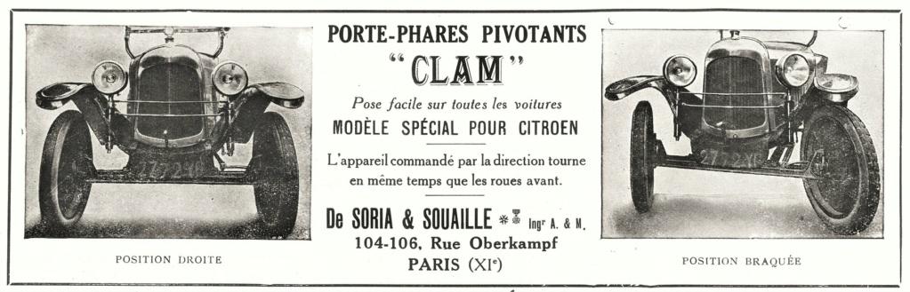 Les accessoires d'époque pour CITROËN 5cv : les phares pivotants CLAM 0_0_0_65