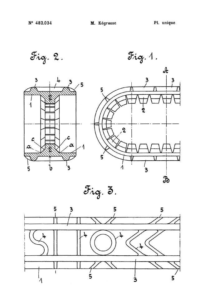 KEGRESSE : les brevets des chenilles 1099