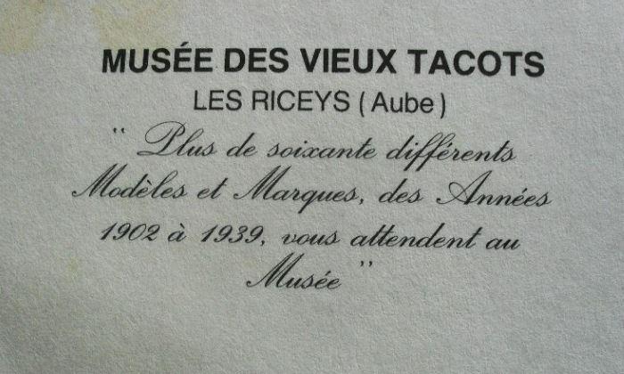 MUSEE DES VIEUX TACOTS - 10 LES RICEYS  5712