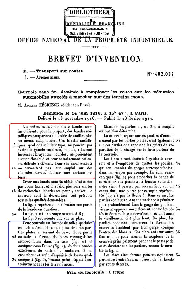 KEGRESSE : les brevets des chenilles 8132