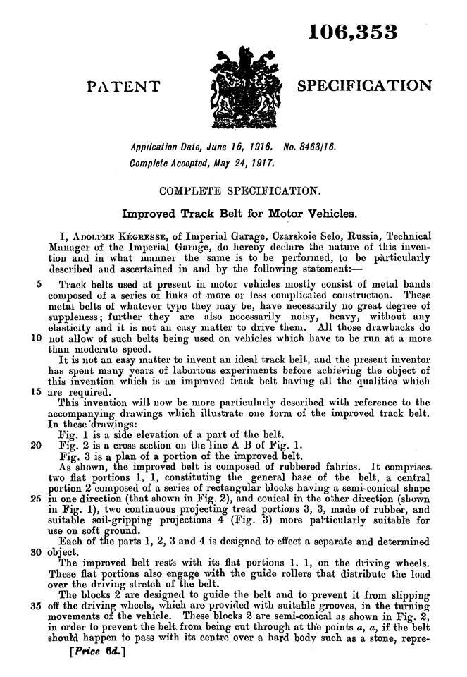 KEGRESSE : les brevets des chenilles 8133