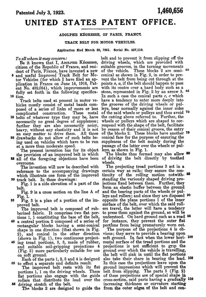 KEGRESSE : les brevets des chenilles 9106