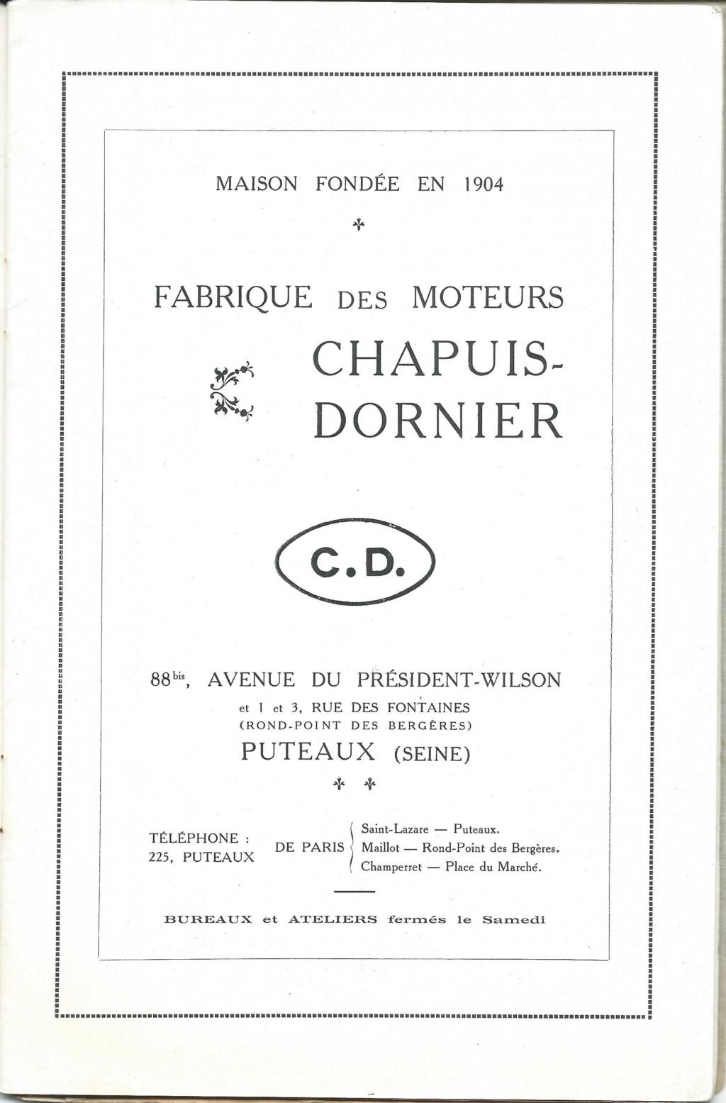 (Recherche) renseignements doc .. sur moteur chapuis dornier Chapui38