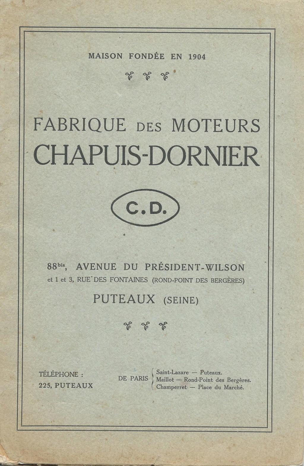 (Recherche) renseignements doc .. sur moteur chapuis dornier Chapui40