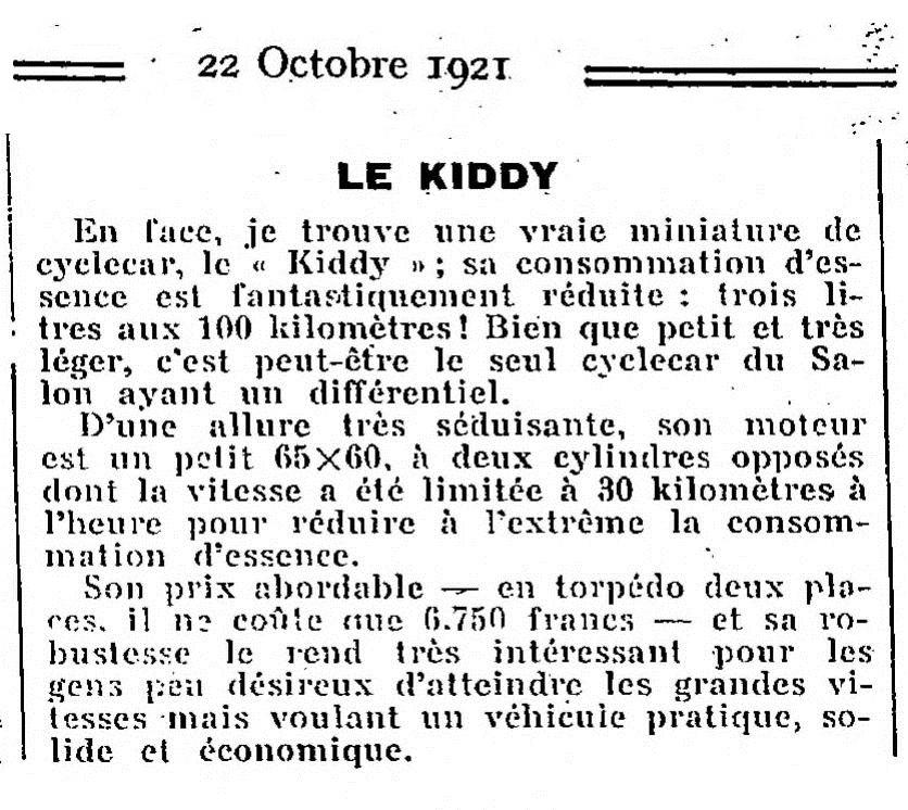 kiddy - Kiddy cyclecar Export13