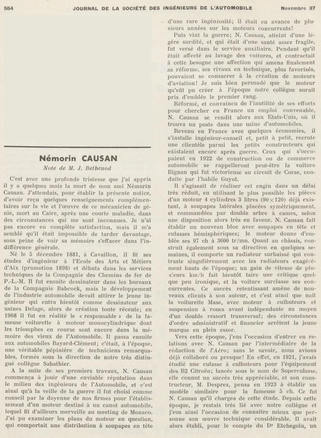 Némorin CAUSAN Ingénieur (1881-1937) Ingzon10