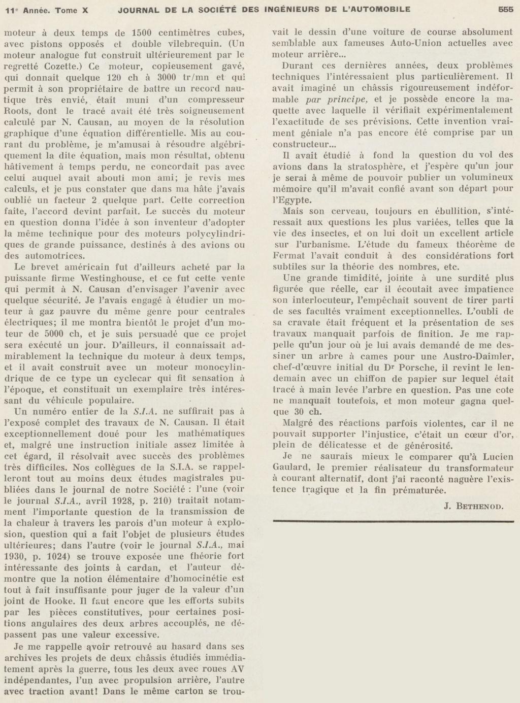 Némorin CAUSAN Ingénieur (1881-1937) Ingzon11
