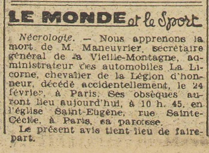 Maneuvrier, Administrateur de LA LICORNE L_aut320