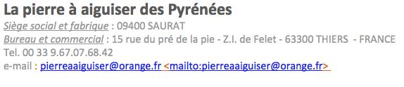 Pierre à aiguiser naturelles des Pyrénées Captu257