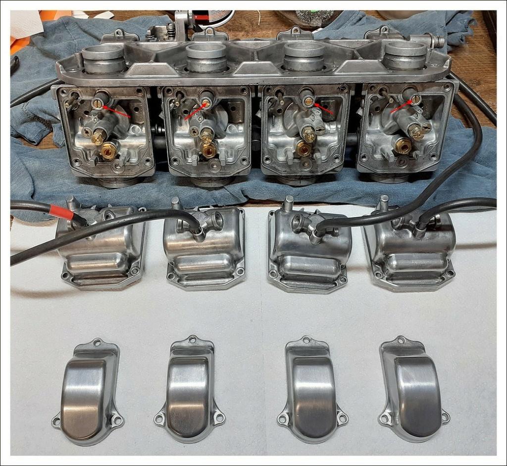 Réglage carburateurs Mikuni GS550E 78 Carbus10