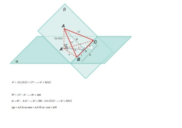 Ângulo formado por 2 planos Diedro17