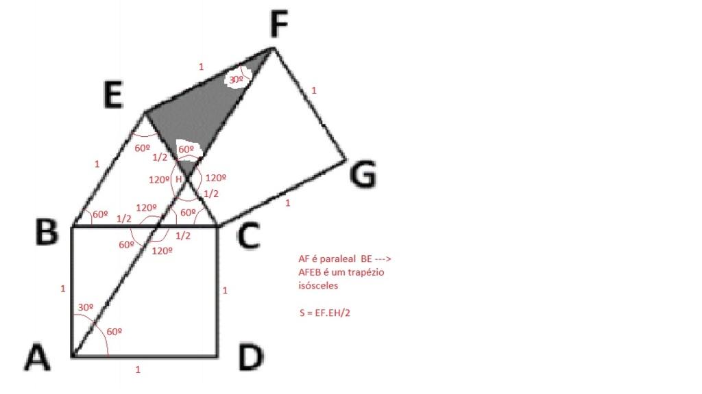 Geometria - Quadrados e Triângulo Quaqua10