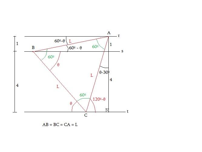 Retas paralelas e triângulo equilátero Tri_eq11