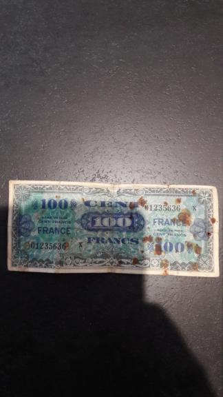 Billet 100 francs  20190514
