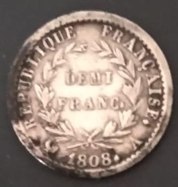 Francia, 1/2 Franco de plata de 1808. Ceca de París  Img-2065