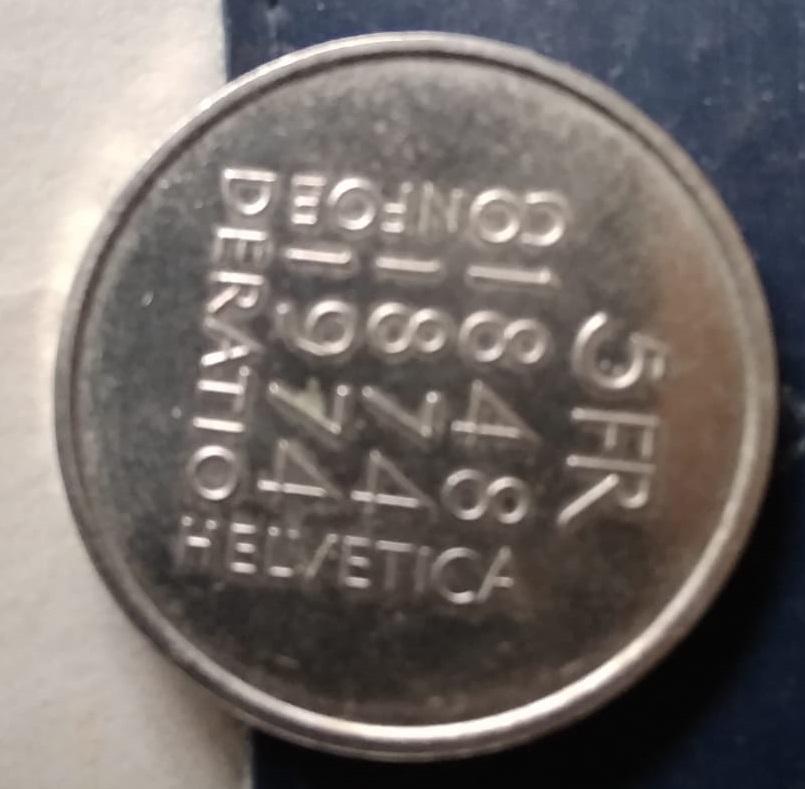Switzerland, 5 Francs de 1974. Revisión de la Constitución. Img-2146