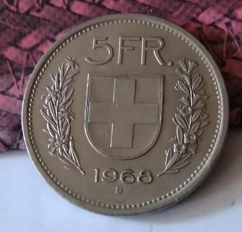 Suiza, 5 Francos de 1968. Ceca de Berna Img-2196
