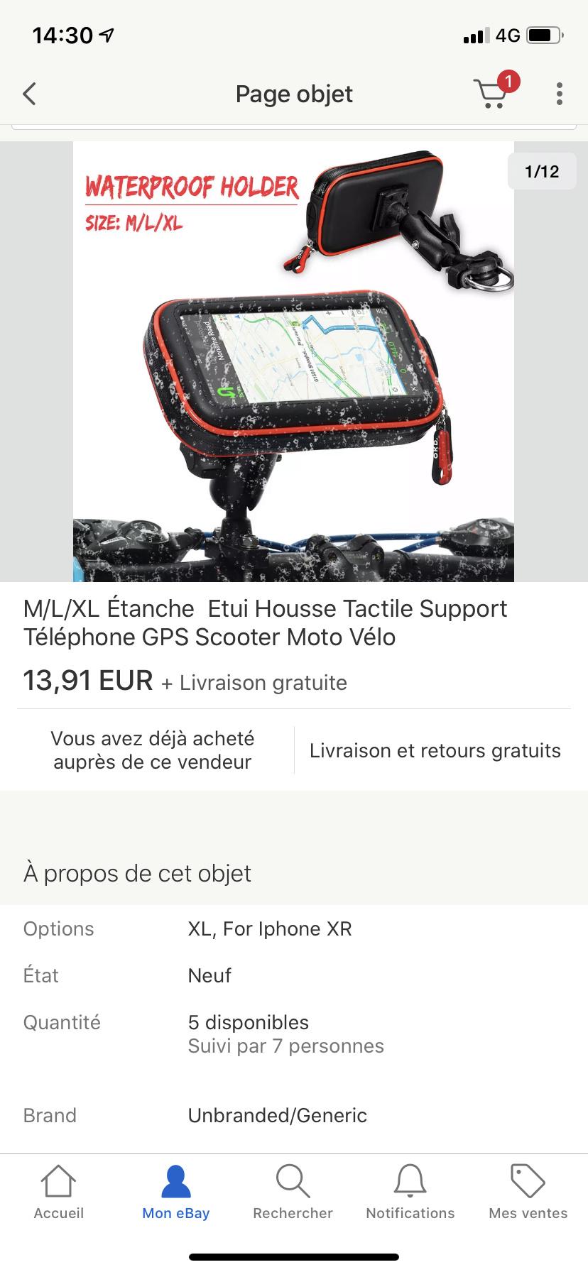 Support pour smartphone étanche A3156310