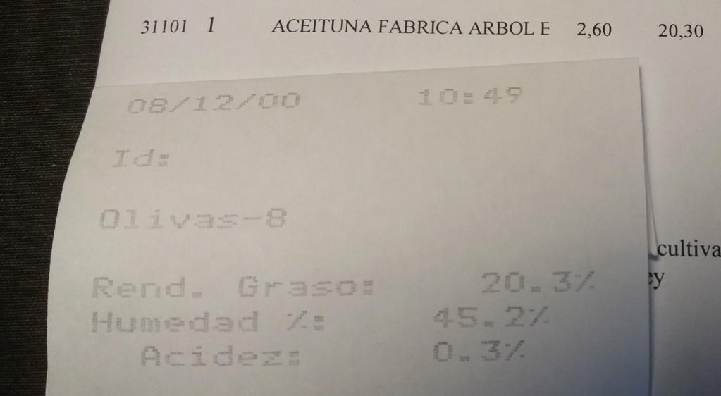 Liquidaciones - Precio aceituna CAMPAÑA 20/21 Corte210