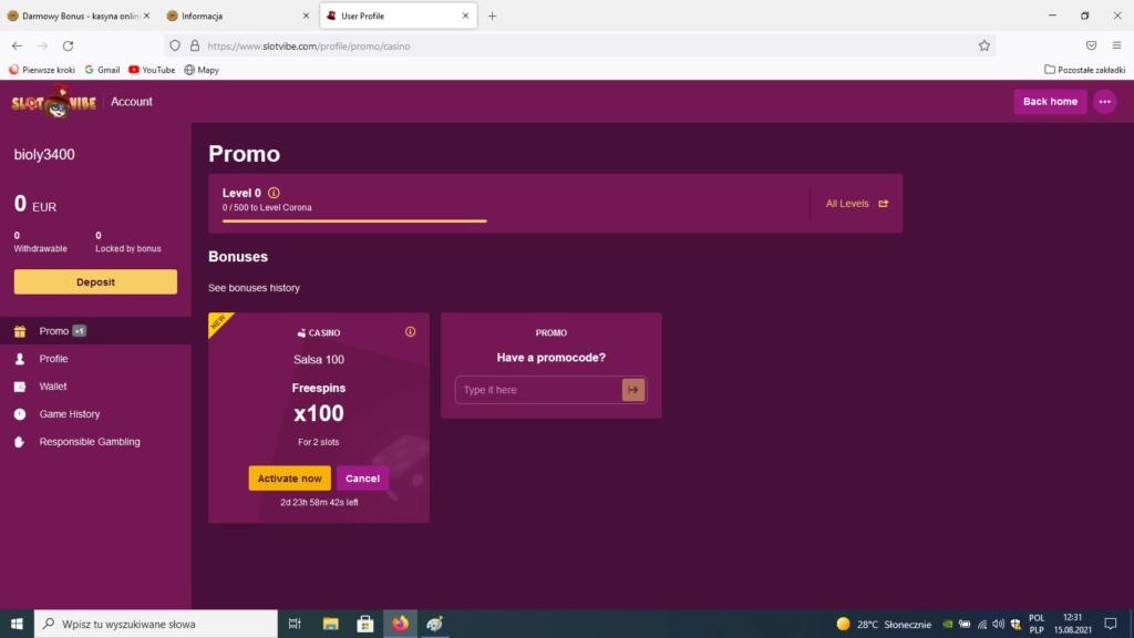 SlotVibe kasyno online darmowe promocje Sa10