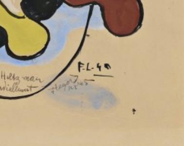 aquarelle  monogrammée   suprématisme,constructivisme  début xx Captur10