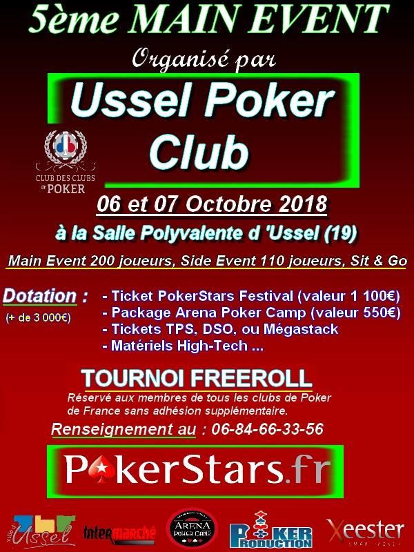 Ussel Poker Club - Samedi 06 et Dimanche 07 Octobre 2018 41056410