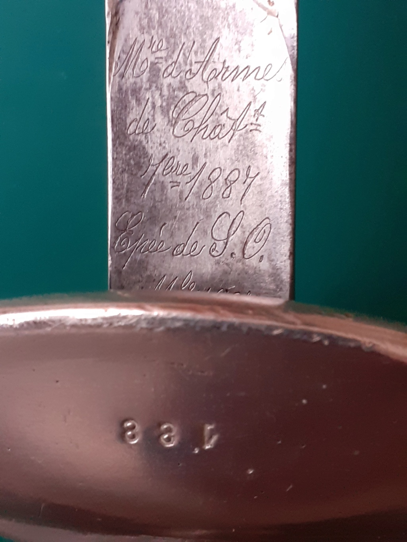 Epée de Sous-Officier Mle 1887 Marqua10