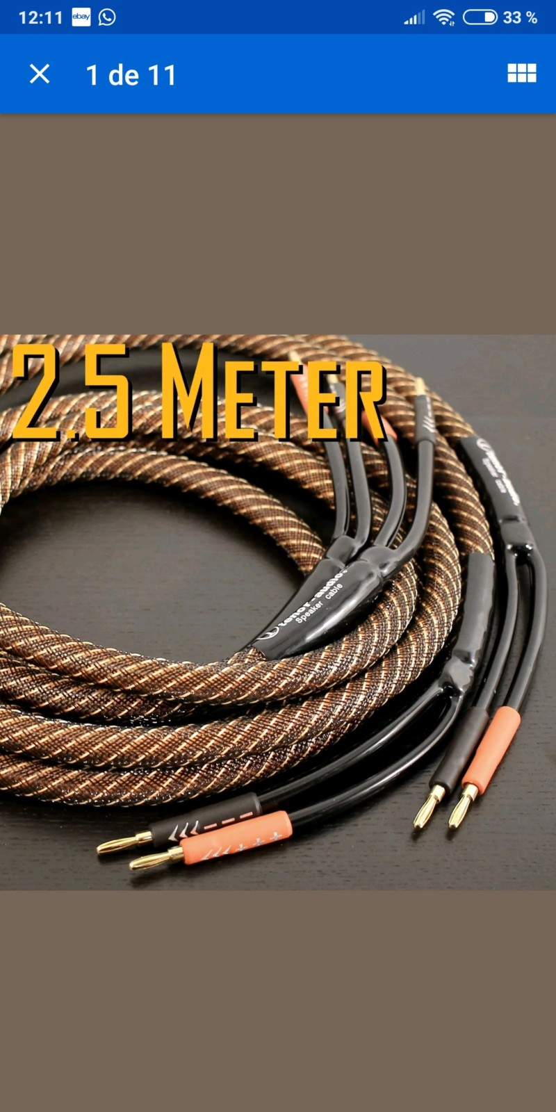 Cable manguera de altavoces 20190117