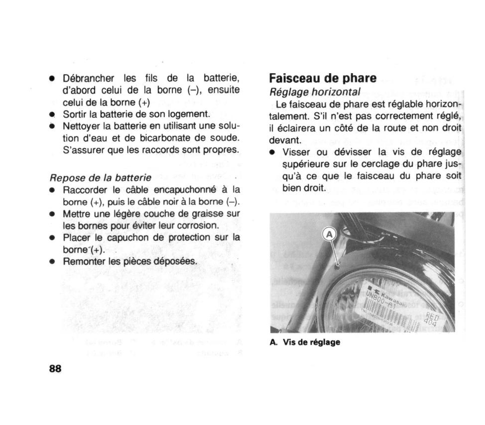 800 VN - Comment régler le phare ? Reglag11