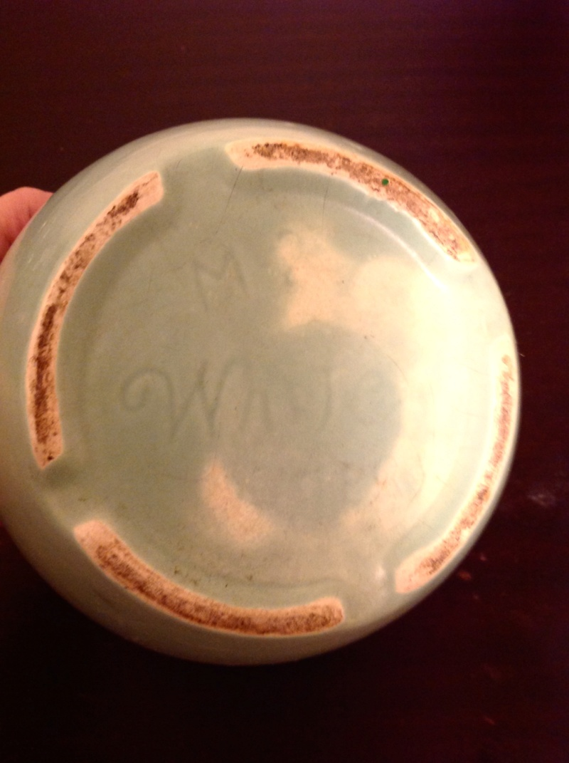 "please id my art deco stamped ""white Pottery"" 2 bowls from california  Pot_211"