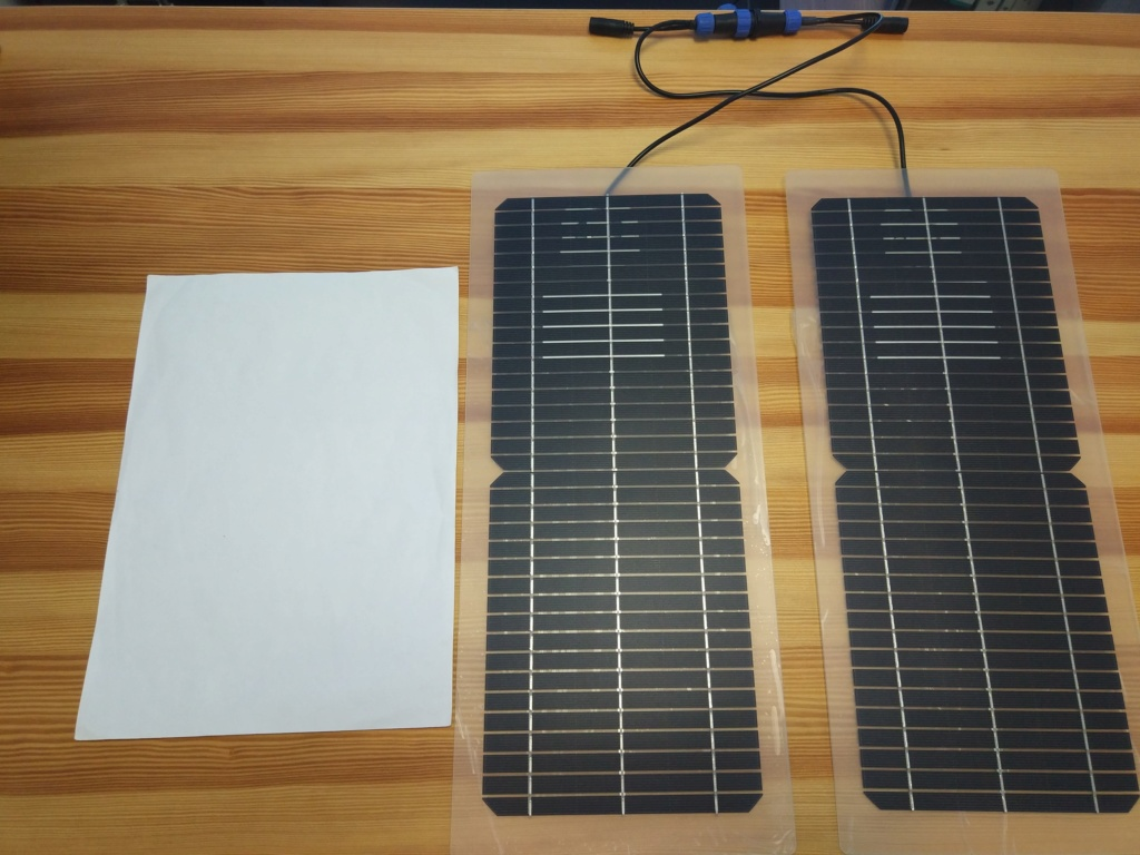 Panel solar para pato/kayak Placas10