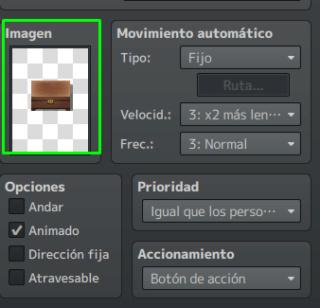 Eventos Comunes colocar imágenes de items Screen10
