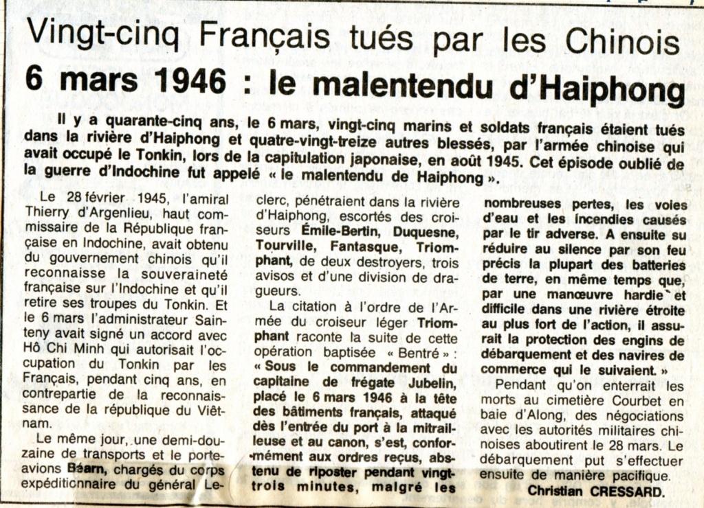 [ Histoires et histoire ] Mon oncle Georges Le Brazic - Carrière Marine, du Maquis à l'Indochine de 44 à 48 - Page 2 Art_0010