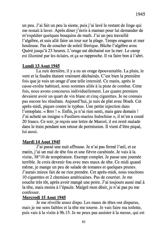 [ Histoires et histoire ] Mon oncle Georges Le Brazic - Carrière Marine, du Maquis à l'Indochine de 44 à 48 Livre279