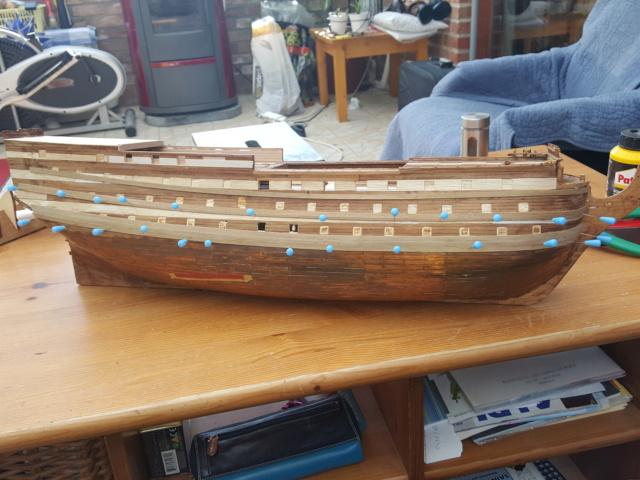 HMS Victory Corel au 1/98 en restauration 20190513