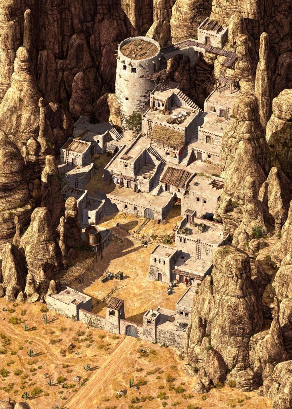 """Campagne médiévale fantastique, """"Aventures dans l'empire Zhong Hoo ou la géopolitique du dragon"""" Villag11"""