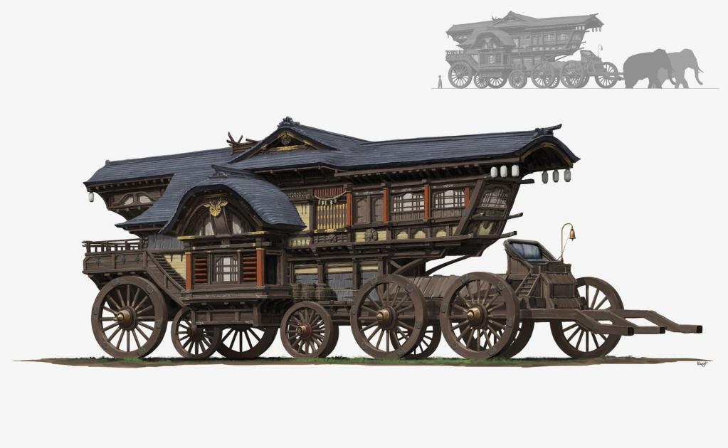 """Campagne médiévale fantastique, """"Aventures dans l'empire Zhong Hoo ou la géopolitique du dragon"""" Wheele10"""