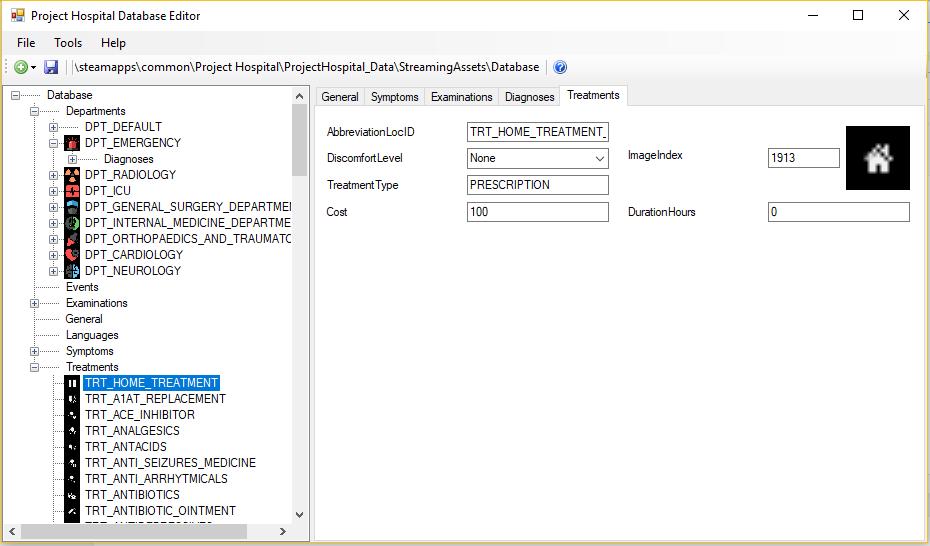 PH Database Editor Treatm10