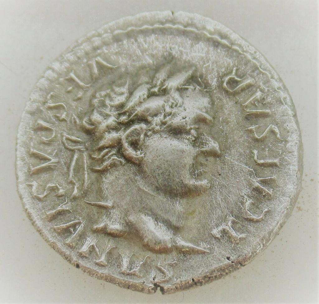 Denario de Tito. IMP XIII . Pastor ordeñando a oveja a izq. Roma. Tito_111