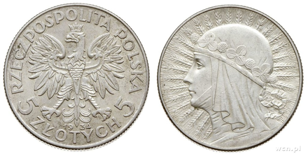 La mujer en la Moneda Polaca 7579011